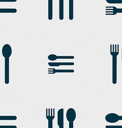 fork knife spoon icon sign Seamless pattern with vector image vector image