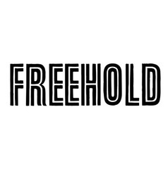 Freehold stamp typographic stamp vector