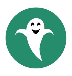 Ghost flat icon vector