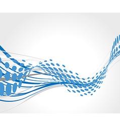 halftone wave line vector image