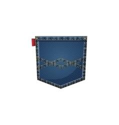 Isolated denim pocket design vector