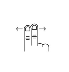 left and right two scroll finger vector image