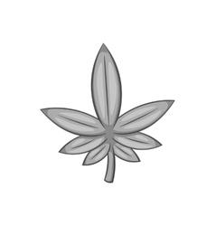 Marijuana icon black monochrome style vector image vector image