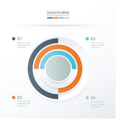 Pie chart infographics orange blue gray color vector
