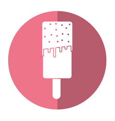 Popsicles stick ice cream shadow vector