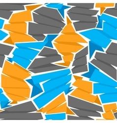 Seamless flat ribbons pattern vector image vector image