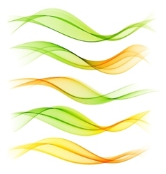 Set of blend abstract wave vector