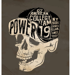 skull wearing hat vector image