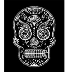 Sugar skull day of the dead vector