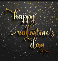 Valentines day confetti background vector