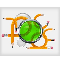 transformed pencils vector image