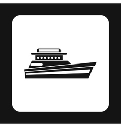 Big yacht icon simple style vector
