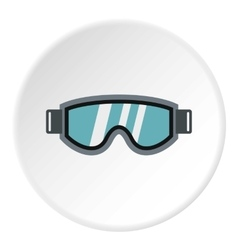 Glasses for snowboarding icon flat style vector
