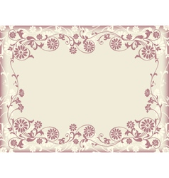 Frame floral decorative ornament vector
