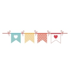 Garlands party decoration icon vector