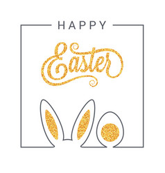 easter design vintage lettering background vector image