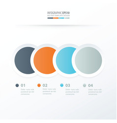 Circle overlap infographic orange blue gray vector