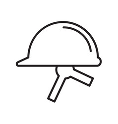Thin line helmet icon vector