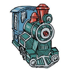 Steam engine train vector