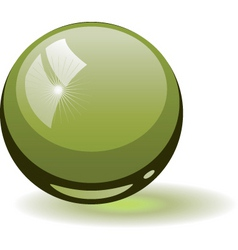 Glass ball vector