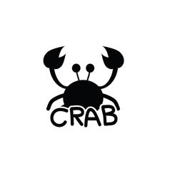 Crab animal silhouette vector