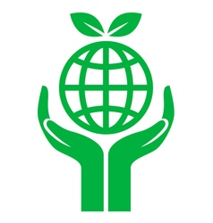 icon earth care vector image