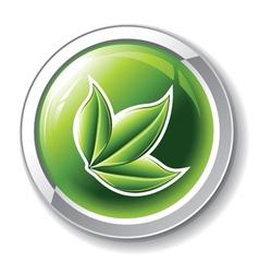 environmental glossy button vector image