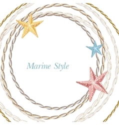 Decorative sea frame with starfishes can be used vector