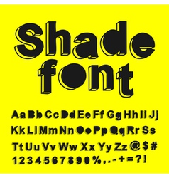 Abstract shade font vector image
