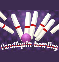 candlepin bowling color vector image