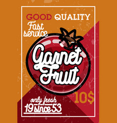 Color vintage fruit banner vector