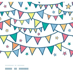 Colorful doodle bunting flags horizontal seamless vector image vector image
