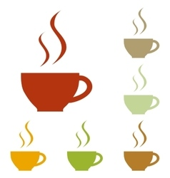 Cup of coffee sign vector image vector image