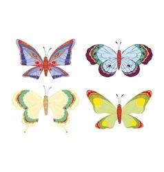 Cute cartoon butterflies set vector image