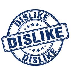 Dislike blue grunge stamp vector