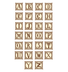 Elegant letter alphabet vintage capital vector