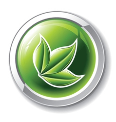 environmental glossy button vector image