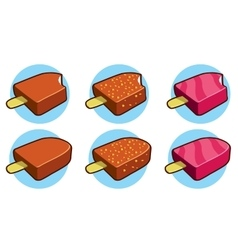 Eskimo pie icons vector