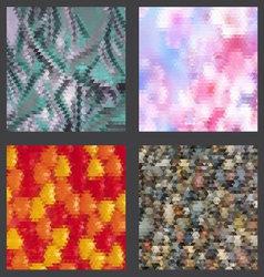 Geometric patterns set vector image