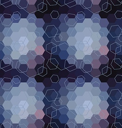 Geometric seamless hexagon abstract background vector image vector image