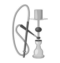 Hookah icon gray monochrome style vector image