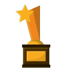 Isolated gold trophy with star design vector