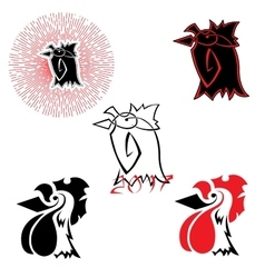 logos with the image of a rooster vector image vector image