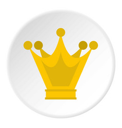 Princess crown icon circle vector