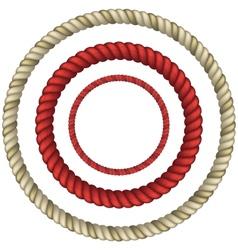 Rope circular vector image