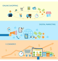 Shopping e-commerce banner vector image vector image