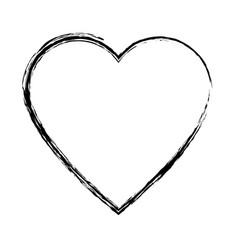 Sketch heart health care love symbol vector