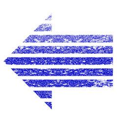 Stripe arrow left grunge textured icon vector