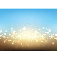 Summer lights background vector image vector image