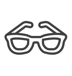 sunglasses line icon travel and tourism vector image